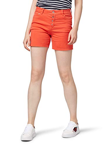 TOM TAILOR Denim Damen Hosen & Chino Cajsa Shorts Brilliant red,M