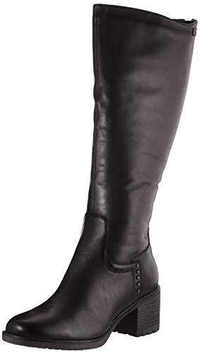 Tamaris Damen 1-1-26604-25 Kniehohe Stiefel, schwarz, 40 EU