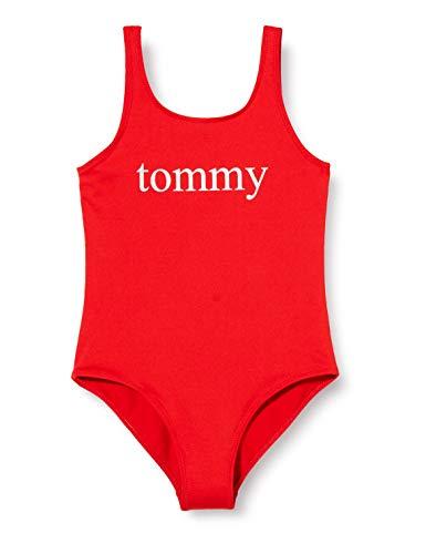 Tommy Hilfiger Mädchen One-piece Bikini-Set, Rot (Red Glare 105-670), 4-6 Jahre