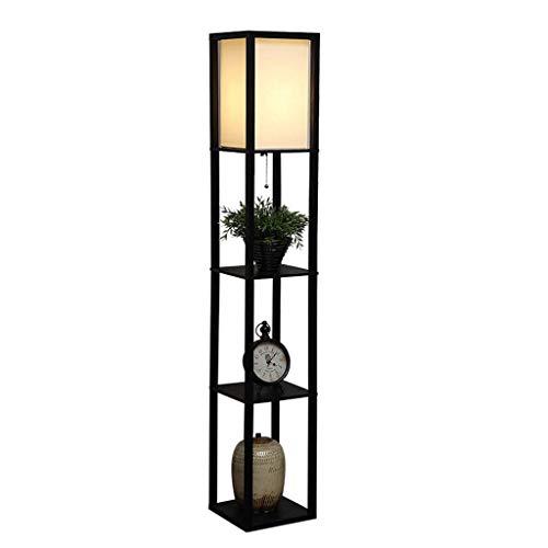 Moderne minimalistische houten sterke stoffen lampenkap staande lamp slaapkamer woonkamer creatieve geheugen-verticale tafellamp