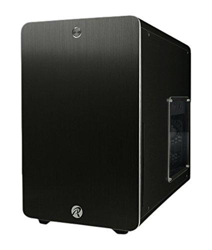 RAIJINTEK Styx Micro-Tower Schwarz - Computer-Gehäuse (Micro-Tower, PC, Aluminium, SPCC, Micro-ATX,Mini-ITX, Schwarz, 1,5 mm)