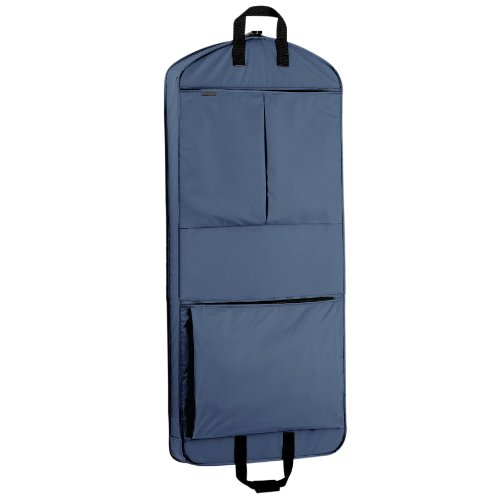 WallyBags 52 Inch Extra Capacity Garment Bag with Pockets, Navy, One Size