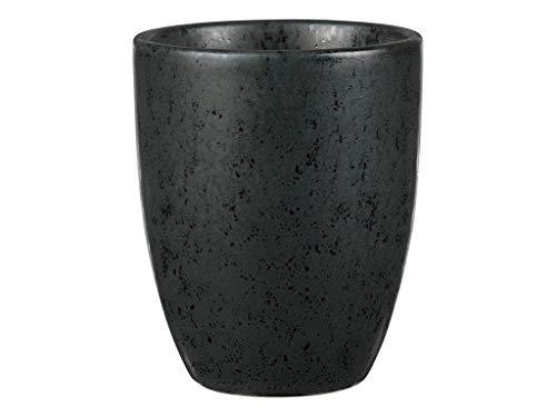 BITZ Kaffeetasse/Kaffeebecher aus robustem Steinzeug, Tasse ohne Henkel, 30 cl, schwarz