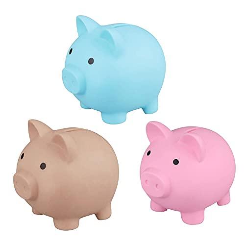 JHDS 3 PCS Piggy Bank - Money Plastic Bank Coin Box - Banco De Dinero De Plástico para Niños Regalo De Cumpleaños - Money Storage Pot Figurine Figurine Decoración De Escritorio