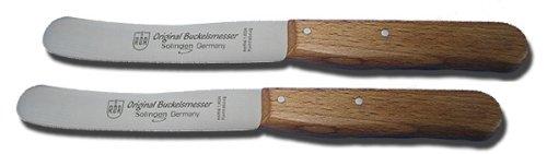 2 Stück Buckels Messer Buche Frühstücksmesser Tafelmesser Tischmesser RÖR Solingen # 10280