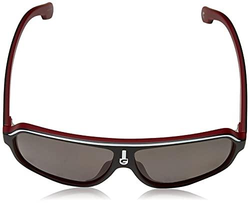 Carrera Unisex-Erwachsene 1001/S M9 Blx 62 Sonnenbrille, Schwarz (Matt Black Crystal Red/Grey)