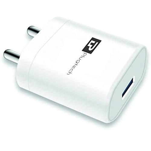 PLUGTECH WC-D02 2.4A Single Port Charger (No Cable), White
