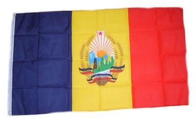 Flagge Fahne Rumänien mit Wappen 90 x 150 cm FLAGGENMAE®