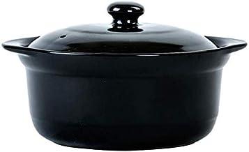 Praktisch Casserole gerechten klei potten braadpan klei pot antislip en stabiele koken pot sneldrogend handige opslag-3L (...