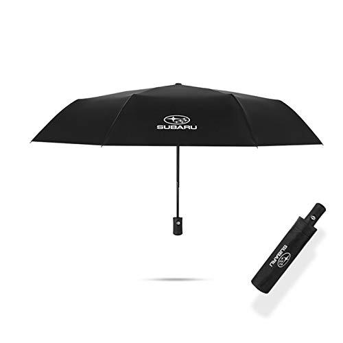 YEEXCD Auto Styling Dreifache Doppelschicht Regenschirm mit für Subaru Logo Winddicht Automatische Sonnenstrand Regenschirm