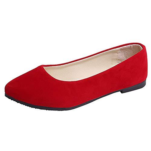 YWLINK Zapatos Planos Mujer Moda Leopardo TamañO Grande Zapatos Casuales De Boca Baja Trabajo Zapatos Solos CóModo Mocasines Viajes Zapatillas De Deporte Senderismo Ciclismo Regalo(Rojo,36EU)