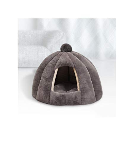 Jingyinyi kat nest, winter warm gevoerde kat slaapzak gesloten klein huis, duurzame kat huis, Grijs