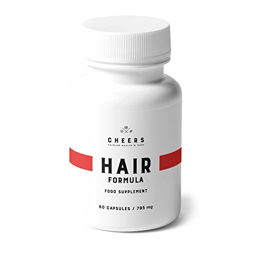 Hair Growth Vitamins - 60 Capsules - Anti Hair Loss Tablets - Hair Regrowth Supplement w/Phosphatidic Acid - Bamboo, Horsetail, Palmetto Extracts for Hair Thickening - Best in Hair Growth Products