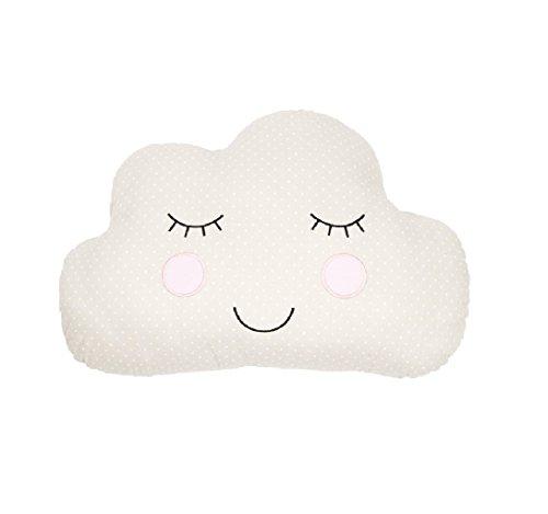 Sass & Belle Kissen für Schlaf- / Kinderzimmer (Wolkengesicht, Beige)