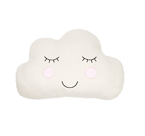Children's Bedroom Kids Nursery Cushions Sass & Belle (Cloud Face / Beige)