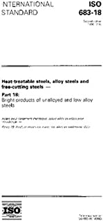 ISO 683-18:1996, Heat-treatable steels, alloy steels and free- cutting steels - Part 18: Bright products of unalloyed and low alloy steels