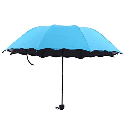 Paraguas a prueba de viento de los colores paraguas de la lluvia compacto paraguas de los hombres de las mujeres 10K Parasol lluvioso Parapluie - azul, a1