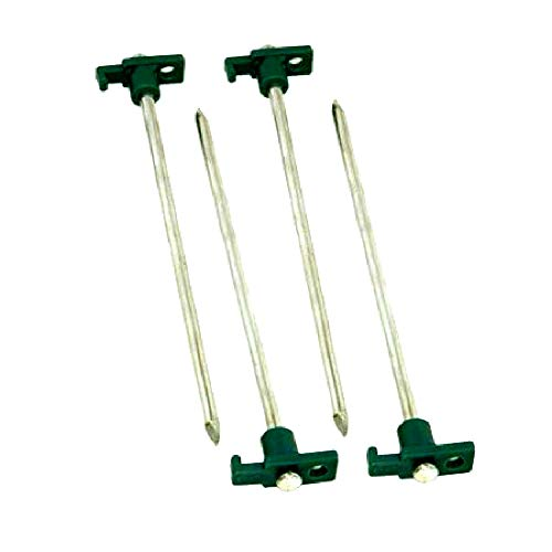 Heavy Duty Metal Tent Stakes Plated Steel High Impact Polypropylene Tops Easy Thread Through Tops Durable Construction Adventurer's 4 Pack - Skroutz Deals