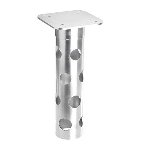 4smile Bodenplatte mit Bodenhülse Sonnenschirm – Robust, unverwüstlich, rostfrei – Bodenanker Ampelschirm zum Einbetonieren, aus Edelstahl – Made in Germany