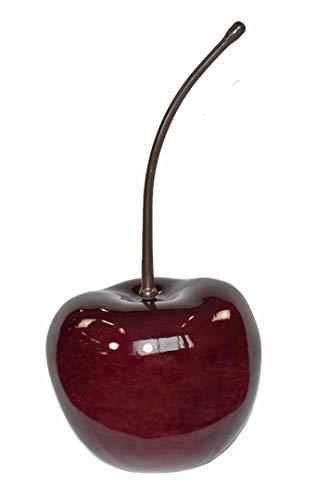 Deko-Artikel Kirsche L38x B32x H70cm aus Fiberglas in Hochglanz kirschrot, Deko-Obst