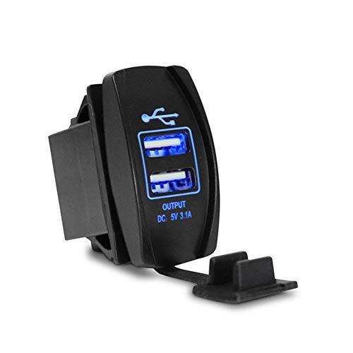 YMHAN USB 1pc del cargador del coche encendedor de cigarrillos del zócalo del USB Adaptador de corriente 12-24V 3.1A Dual cargador universal for el barco de la motocicleta del coche de camiones Venta
