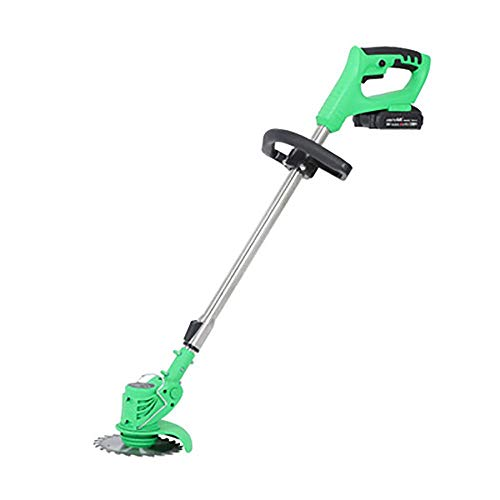 Amazing Deal Grass Trimmer Cordless Handheld, Battery Powered Grass Cutting Machine Cordless Green G...