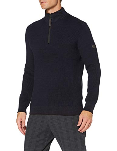 camel active Herren 4095094K0949 Pullover, Night Blue, L