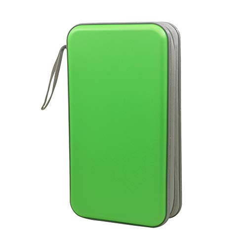 80 Capacity CD/DVD Case Wallet, Storage,Holder,Booklet (Green)