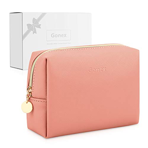 Gonex Kosmetiktasche, klein wasserdicht leichte Make up Tasche Organizer für Damen Herren und Kinder Nacktes Pink Rosa