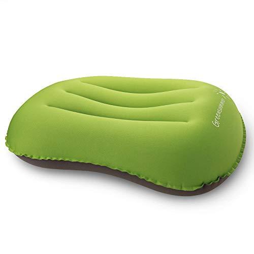 SHANGJ Nadmuchiwana poduszka, ultralekka poduszka kempingowa podróżna kompresowana poduszka. Kompresyjna, kompaktowa, wygodna, nadmuchiwana poduszka do biwakowania/spania/turystyki pieszej, wędrówek z plecakiem - w zestawie torba do przechowywania