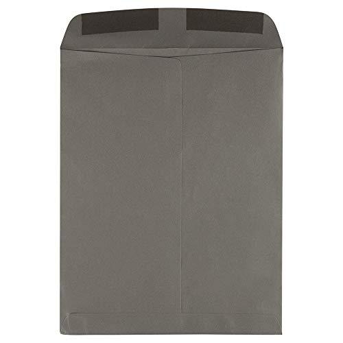 JAM PAPER 10 x 13 Open End Catalog Premium Envelopes - Dark Grey - 10/Pack