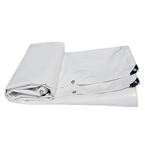 HMLIFE Toile de bâche PVC Heavy Duty Outdoor Shade Double face imperméable tissu imperméable à l'eau de pluie de camion de voiture Toile bâche imperméable tente de camping tente de tente