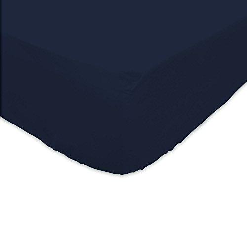 Soleil d'Ocre - 612800,Lenzuolo con angoli elasticizzati, in cotone, Blu , 140 x 200 cm