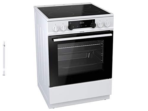Gorenje EC 6341 WD Elektro-Standherd mit Glaskeramik-Kochfeld / 60 cm / HomeMade Plus Design / GentleClose / MultiAir-Technologie / Supreme-Beschichtung / Weiß [Energieklasse A]