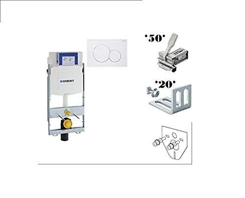 Geberit GIS WC Element mit UP 320 + GIS Montage Zubehör SET 50 / 20