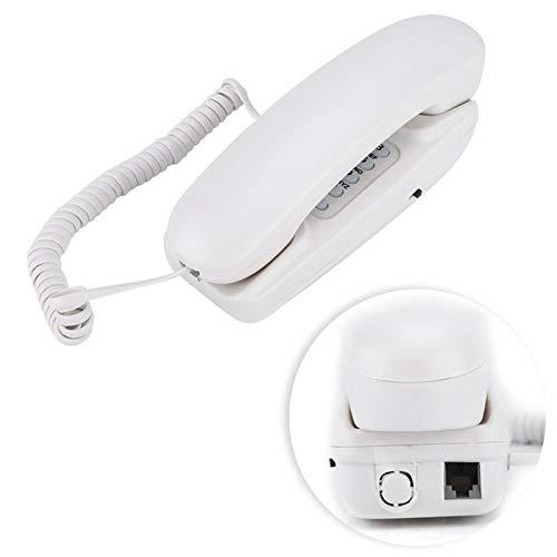 RUINAIER Comfort Volume Teléfono Fijo Teléfono Fijo Montaje en la Pared Teléfono Telefono SEM FIO TELEFONO INALAMBRICO DE CASA BOTÓN Digital Big TELEFONE FIXO 3 Color (Color : White)