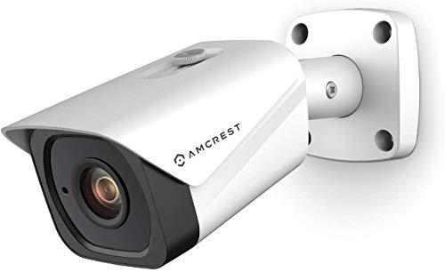Amcrest UltraHD 4K (8 MP) POE IP, cámara exterior, 3840 x 2160, 131 pies NightVision, objetivo de 2,8 mm, IP67, resistente a la intemperie, grabación microSD, color blanco (IP8M-2496EW-28MM V2)