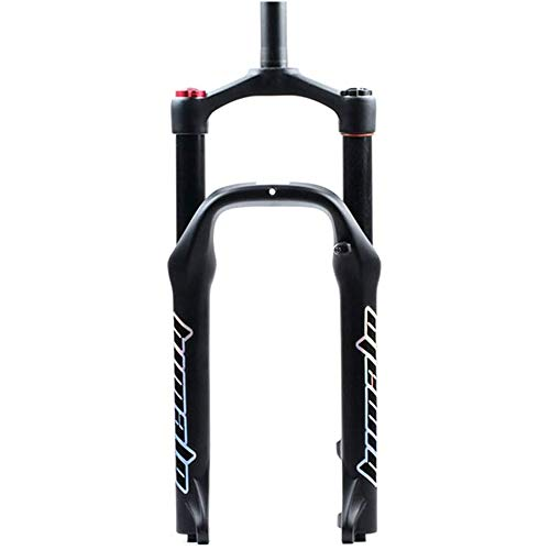 YSHUAI 20 Pouces Fourche Avant vélo Fourches à Suspension Fourche de vélo VTT Fourche de vélo Verrouillage air-gaz Fourches à Suspension en Alliage d'aluminium pour pneus 4.0\