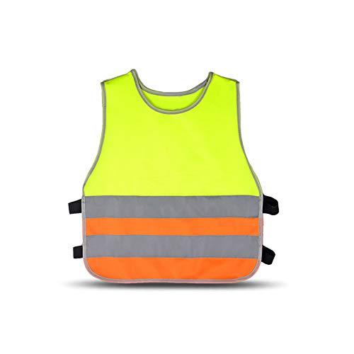 HYCOPROT Warnwesten Kinder Baby Hohe Sichtbarkeit Reflektierende Sicherheitsweste Kleinkind Arbeitskleidung Weste Jacke 2 Band Elastische Gurte (Mehrfarbig, S)