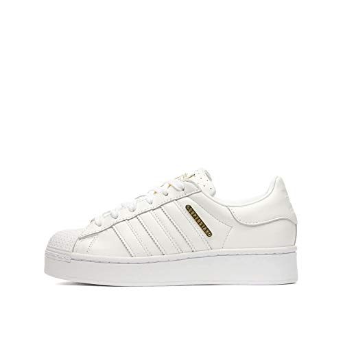 Adidas Superstar Bold W, Zapatillas de Gimnasio Mujer, FTWR White/Gold Met./Core Black, 40 EU