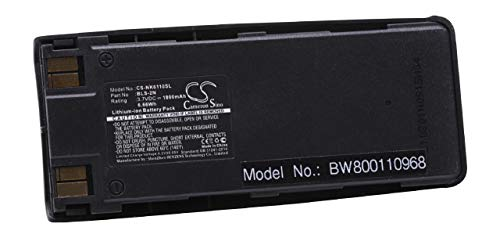 vhbw Li-Ion Akku 1800mAh (3.7V) für Handy Smartphone Handy Nokia 6310, 6310i, 7110 wie BLS-2, BLS-2N, BLS-4, BMS-2S, BPS-2.