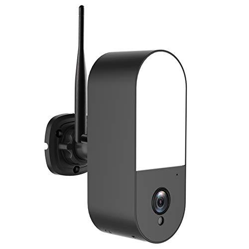 conpoir Cámara de Seguridad inalámbrica con Reflector, cámara de vigilancia WiFi para Exteriores de 2MP con visión Nocturna, Audio bidireccional, detección de Humanos con IA