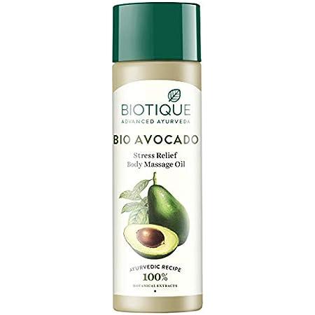 Biotique Bio Cado Avocado Stress Relief Body Massage Oil, 200ml
