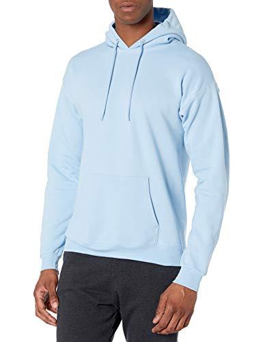 Hanes Men's Pullover EcoSmart Hooded Sweatshirt, Light Blue, X-Large