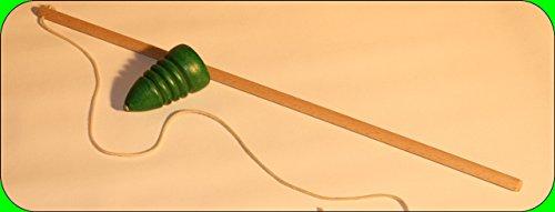 Peitschenkreisel einfarbig Maße Kreisel: 43 x 70mm Peitsche Länge 450mm NEU Kreisel Brummkreisel