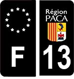SAFIRMES 4 Autocollants Stickers Auto Plaque d'immatriculation 13' Black Edition