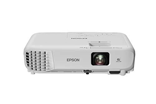 Epson Videoproyector Powerlite W05+, WXGA 3300 lúmenes blanco y color, 3LCD con HDMI para Corporación Wi-Fi incluíd