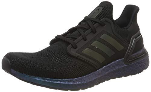 adidas Men's Ultraboost 20 Running Shoe, Core Black Core Black Signal Cyan, 5 UK