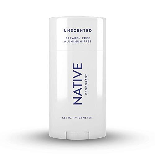 Native Deodorant - Natural Deodorant - Vegan, Gluten Free, Cruelty Free -Contains Probiotics - Aluminum Free & Paraben Free, Naturally Derived Ingredients - Unscented