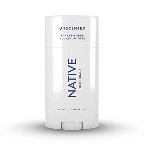 Native Deodorant - Natural Deodorant - Vegan, Gluten Free, Cruelty Free -Contains Probiotics - Aluminum Free & Paraben Free, Naturally Derived Ingredients - Unscented